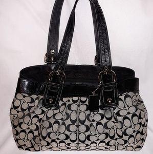 Large Coach shoulder purse